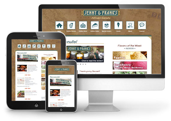 Website Design: Jenny & Franks