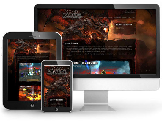 Website Design: Valence Guild